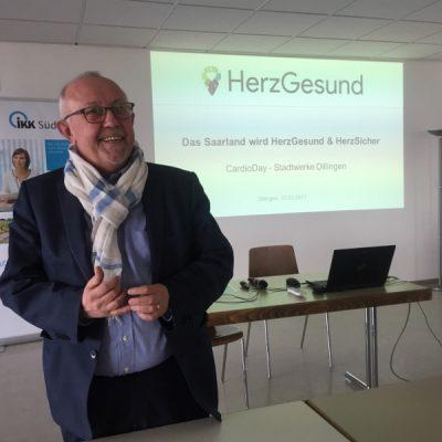 Dillingens Bürgermeister Franz-Josef Berg begrüßte ebenso zum CardioDay und unterstrich die Wichtigkeit des Projekts für die Stadt Dillingen